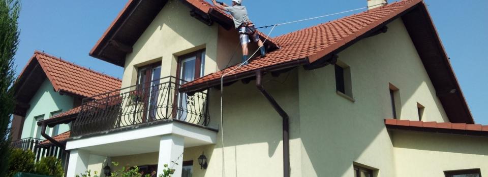 Czyszczenie i malowanie dachu